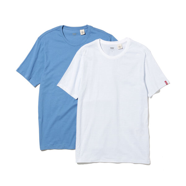 スリム2パックTシャツ WHITE / ARCTIC BLUE