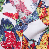 キューバシャツ PARROTS BRILLIANT WHITE PRINT