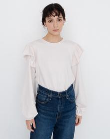RUFFLE Tシャツ CRYSTAL GRAY