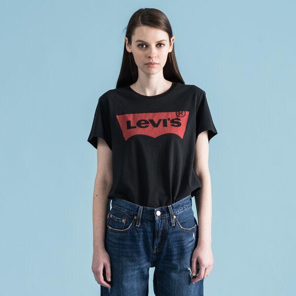 バットウィングTシャツ-ブラック