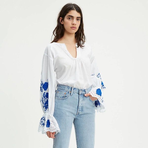 FLOUNCE TOP BRIGHT WHITE