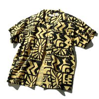 EL アズテックプリントシャツ SUNSET GOLD
