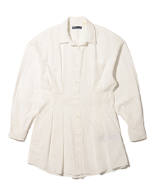 WSTD DAD SHIRT DRESS BRIGHT WHITE