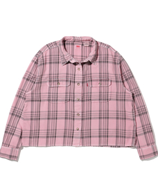 OLSEN UTILITY SHIRT GD BLUSH FLANNEL