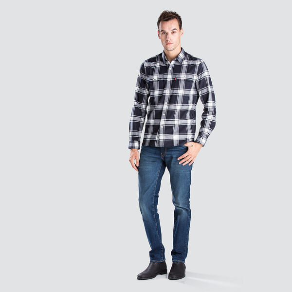 JACKSON WORKER BADGER SKY CAPTAIN PLAID