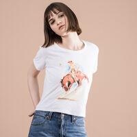 グラフィックリンガーTシャツ HORSE WHITE