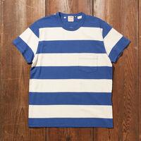 1960's カジュアルストライプTシャツ BLUE WHITE
