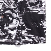 キューバシャツ HALFTONE PALM BLACK PRINT