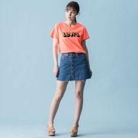 グラフィックTシャツ 3D LOGO NEON ORANGE