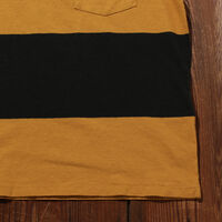 1960's カジュアルストライプTシャツ BLACK GOLD