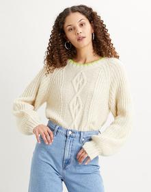 Ava Cable Sweater Almond Milk