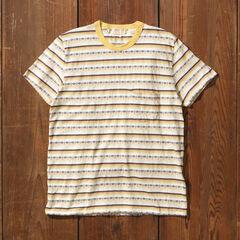 Levi's Vintage Clothing 1960s Striped Tee Shirt 31960: 0046 Custard Stripe Jacquard