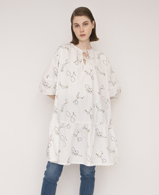 ISLA DRESS ELEGANT SQUIGGLES CLOUD DANCE