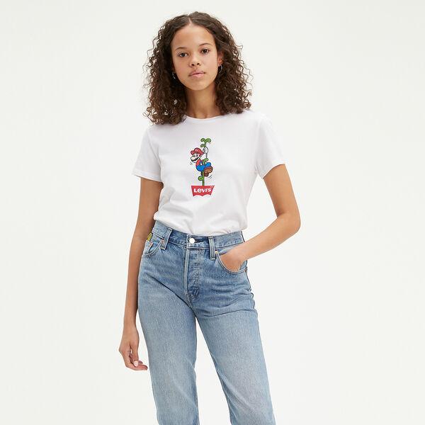 パーフェクトTシャツ WMN MARIO WHITE