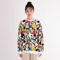 DISNEY クルーネックスウェットシャツ A/O PRINT