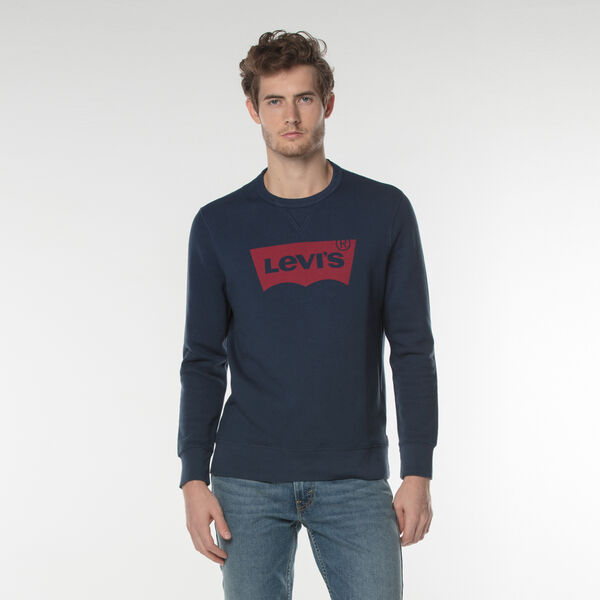 バットウィングロゴスウェットシャツ-ネイビー