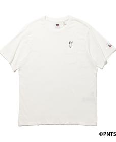 リラックスフィットポケットTシャツ BACK FLIP SNOOPY
