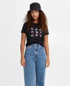 DISNEY S/S Tシャツ DISNEY BLACK W/ RIB TRIM