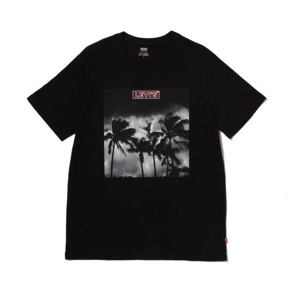 グラフィッククルーネックTシャツ BI PHOTO TEE MINERAL BLACK