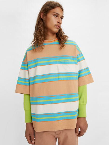 80'S WIDE Tシャツ FLURO ORANGE BLUE GREE