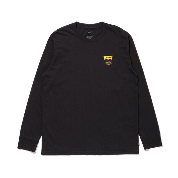 リラックスロングスリーブグラフィックTシャツ SSNL HM LS JET BLACK