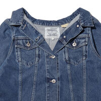 LEVI'S® MADE&CRAFTED® OFF THE SHOULDER  トラッカージャケット LT WASH DENIM