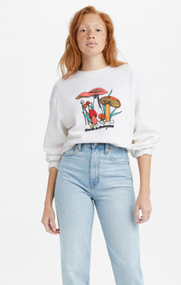 GRAPHIC MELROSE SLOUCHY CREW MUSHROOM