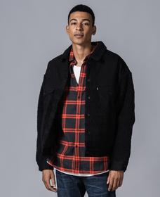 オーバーサイズシェルパトラッカージャケット IVAN BLACK
