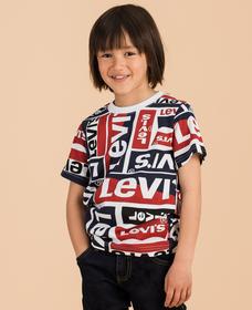 リーバイス総柄ロゴTシャツ (身長90-120cm)
