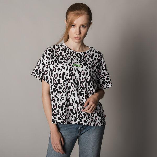 アニマルプリントロゴTシャツ