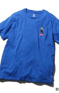 グラフィッククルーネックTシャツ LUIGI LC PATCH BLUE