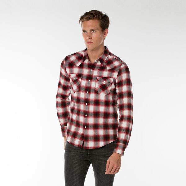 クラシックウェスタンチェックシャツ-レッド/ElmREDDAHILAPlaid