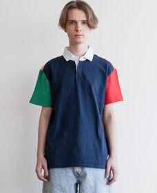 MIGHTY ラグビーポロシャツ カラーブロック