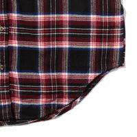 JUNIPER ロングボーイフレンドシャツ POPPLE HERRINGBONE