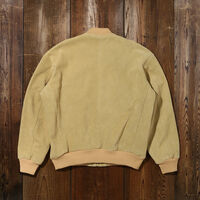 LOOSE SUEDE BOMBER FALL LEAF