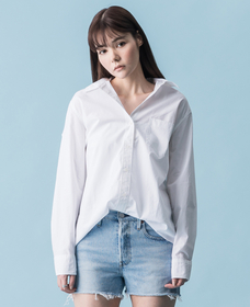 ボーイフレンドシャツ BRIGHT WHITE