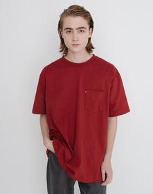 MIU BOXY Tシャツ RED DAHLIA