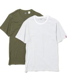 スリム2パックTシャツ OLIVE NIGHT / BLACK