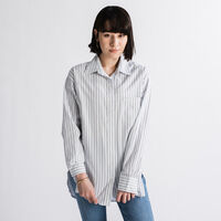 THE DAD SHIRT W/ POCKET AMARIS STRIPE BRIGHT WHITE