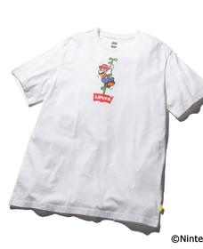 グラフィッククルーネックTシャツ MARIO BW VINE WHITE