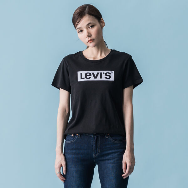 パーフェクトTシャツ BOX TAB BLACK GRAPHIC