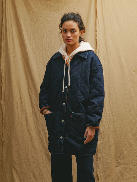 LR QUILTED CHORE JACKET QUILTED RINSE