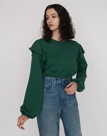 RUFFLE Tシャツ ARBOR GREEN
