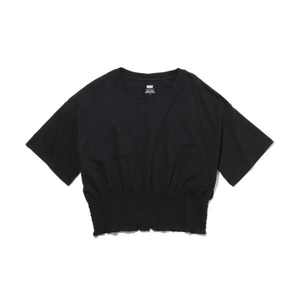 スモックドTシャツ MINERAL BLACK
