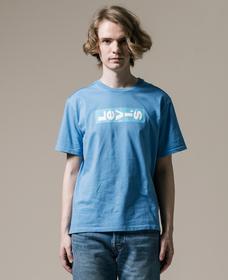 リラックスグラフィックTシャツ LAZY TAB PARISIAN BLUE