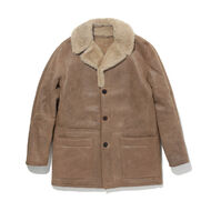 LMC SHEARLING RANCH COAT BONE BROWN