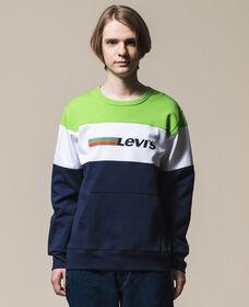 カラーブロックスウェットシャツ PIECED TOP NEON GREEN