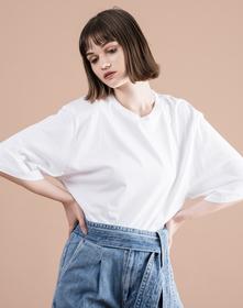 オーバーサイズスリーブTシャツ BRIGHT WHITE