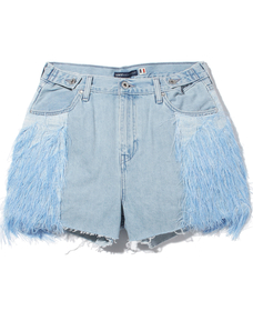 CINCHED TAB SHORT FEATHER MIRAGE