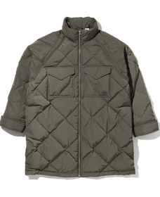 DIAMOND QUILT PUFFER OLIVE NIGHT